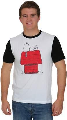 Hybrid Peanuts Snoopy Lounging Ringer Men's T-Shirt - M