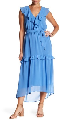 Charles Henry Ruffle Popover Midi Dress $99 thestylecure.com