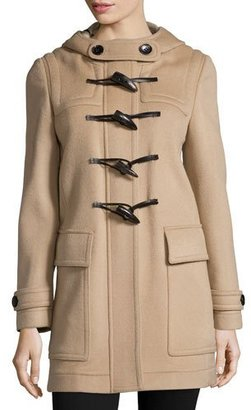 Burberry Baysbrooke Hooded Wool Duffle Coat, New Camel $1,195 thestylecure.com
