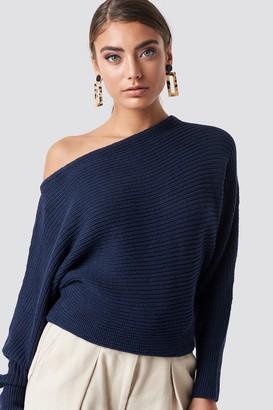 NA-KD Na Kd Off Shoulder Knitted Sweater Beige
