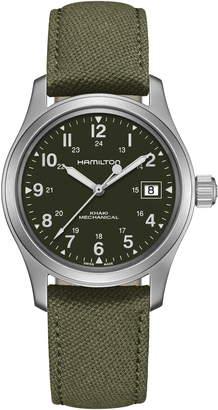 Hamilton Khaki Field Canvas Strap Watch, 38mm