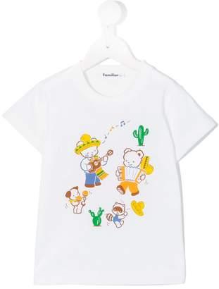 Familiar round neck printed T-shirt
