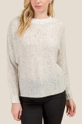francesca's Helen Dolman Sleeve Sweater - Taupe