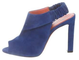 Santoni Slingback Peep-Toe Sandals Royal Slingback Peep-Toe Sandals