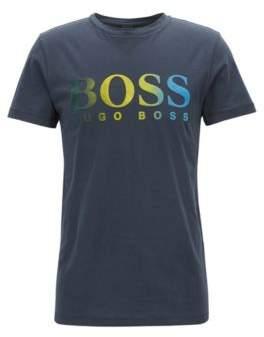 BOSS Hugo Jersey T-shirt degrade flocked logo M Dark Blue