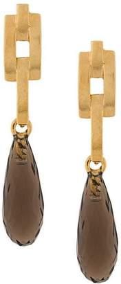 Wouters & Hendrix A Wild Original! teardrop smokey quartz earrings