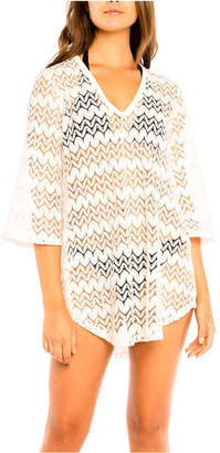 Jordan Taylor Alpine Bell Sleeve Tunic Cover up Women Swimsuit