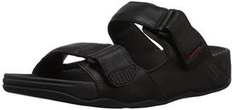 FitFlop Men's Gogh MOC Slide in Leather Open Toe Sandals, (Black 001), 41 EU