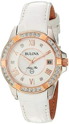 Bulova Women's Quartz Stainless Steel and Leather Casual Watch