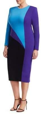 Fausto Puglisi Marina Rinaldi, Plus Size x Marina Rinaldi Disegno Colorblock Sheath Dress
