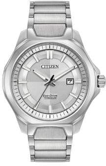 Citizen Ti+IP Eco-Drive Titanium Analog Tonal Dial Bracelet Watch