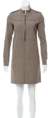 Celine Wool Houndstooth Dress