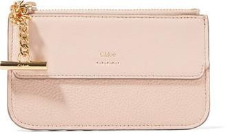 Chloé Joe Textured-leather Cardholder - Blush