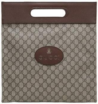 Gucci Gg Supreme & Leather Medium Tote