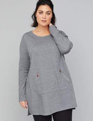 Lane Bryant Zip-Pocket Active Tunic Sweatshirt