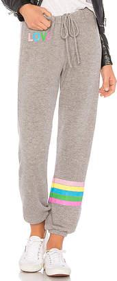 Chaser Rainbow Stripe Sweatpant