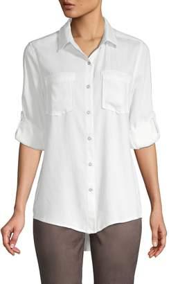 Pure Navy Classic Button-Down Shirt