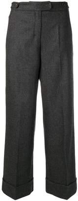 Max Mara cropped wide leg trousers