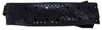 Max Mara Leather Wrap Belt Black Leather Wrap Belt