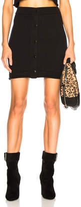 Alexander Wang Snap Mini Skirt