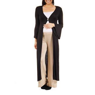 24/7 Comfort Apparel Womens Cardigan-Maternity