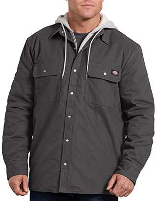 Dickies Men's Relaxed fit Hooded Duck Quilted Shirt Jacket