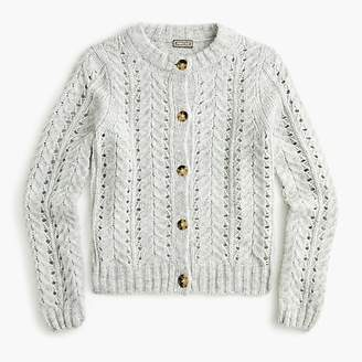 Point Sur pointelle knit cardigan sweater