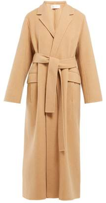The Row Amoy Single Breasted Cashmere Blend Coat - Womens - Camel