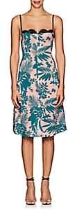 Barneys New York Women's Floral Silk Bustier Dress - Green