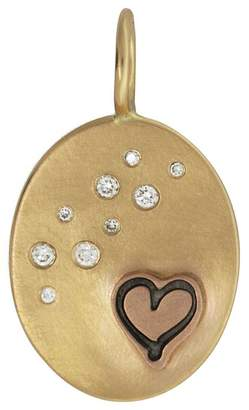 Heather B Moore Heart and Stars Charm - Yellow Gold