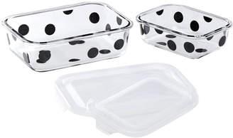Kate Spade Deco Dot Food Storage Dishes - Rectangular - Set of 2