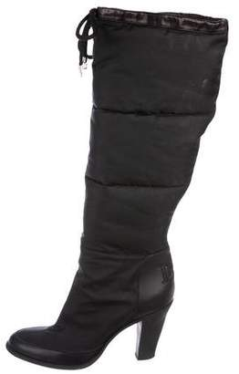 Christian Dior Quilted Knee-High Boots