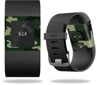 Fitbit Mightyskins MightySkins Protective Vinyl Skin Decal for Surge Watch cover wrap sticker skins Blue Camo