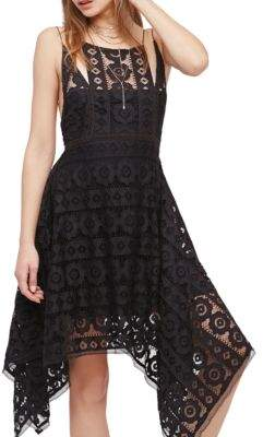 Free People Just Like Honey Lace Midi Dress $128 thestylecure.com