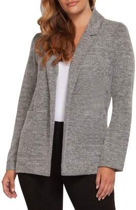 Dex Heathered Open-Front Jacket