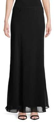Alex Evenings Chiffon Long A-Line Skirt