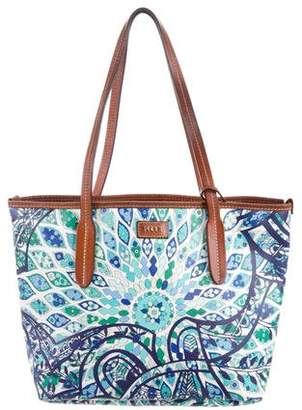 Emilio Pucci Leather-Trimmed Tote