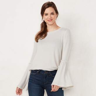 Lauren Conrad Women's Supersoft Bell Sleeve Top