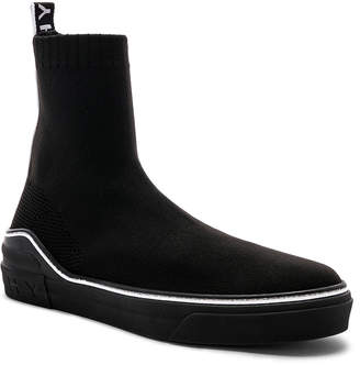 Givenchy George V Mid Sock Sneakers in Black | FWRD