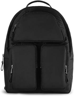 Reiss Reporter Leather Trim Backpack