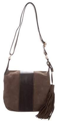 A.L.C. Snakeskin-Trimmed Henry Crossbody Bag