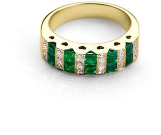 Aspinal of London Heart Emerald & Diamond Ring