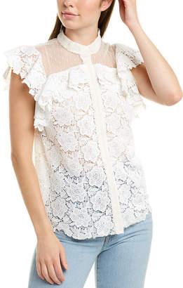 Monique Lhuillier Silk-Lined Top