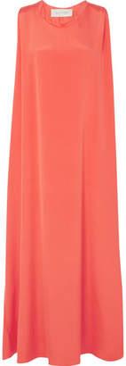 Valentino Silk Maxi Dress - Coral