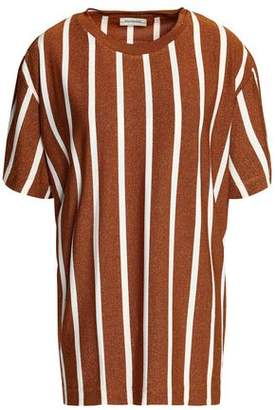 By Malene Birger Striped Metallic Jersey Top
