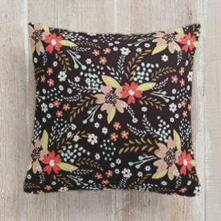 Floral Chalkboard Self-Launch Square Pillows