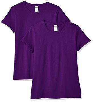 Gildan Women's Heavy Cotton Adult T-Shirt, 2-Pack