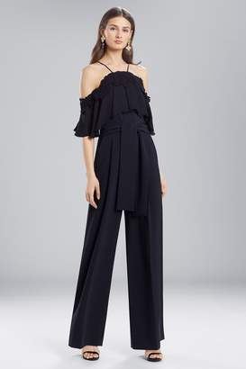 Natori Josie Core Crepe With Lace Jumpsuit