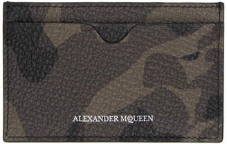 Alexander McQueen Brown Skull Camo Card Holder