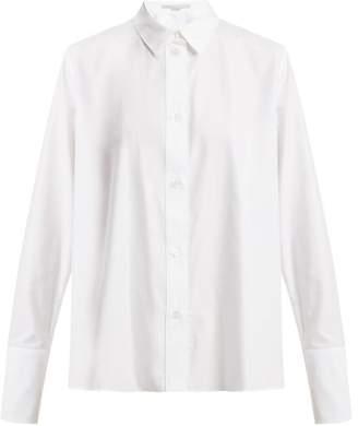 Stella Mccartney - Oversized Cuff Cotton Shirt - Womens - White
